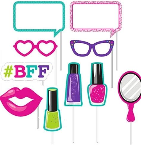 pc spa bff party photo props sweet  party supplies