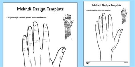 mehndi design template teacher