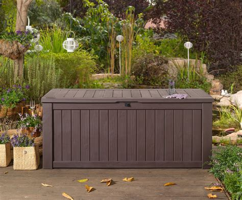 garden storage bench box large  keter resin furniture