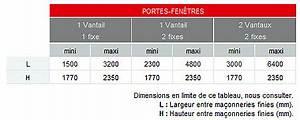 Dimensions Standard Fenetre : dimension porte fenetre coulissante standard fenetre 2 vantaux coulissant tour de france ~ Melissatoandfro.com Idées de Décoration