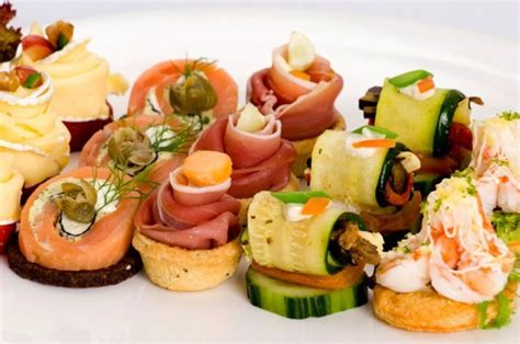 canape food ideas assorted canapes nibbles and bites