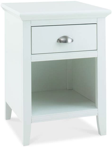 Black Lacquer Cabinets by Bentley Designs Hampstead White Bedside Cabinet 1 Drawer