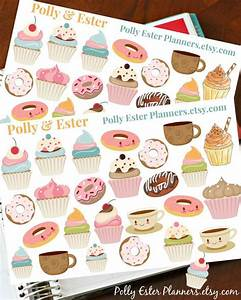 cupcake stickers planner stickers donut stickers cute With kitchen cabinets lowes with erin condren sticker book