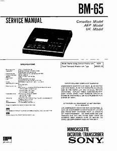 Sony Bm-65 Service Manual