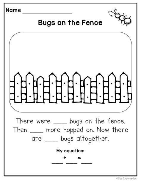 springy story problems miss kindergarten