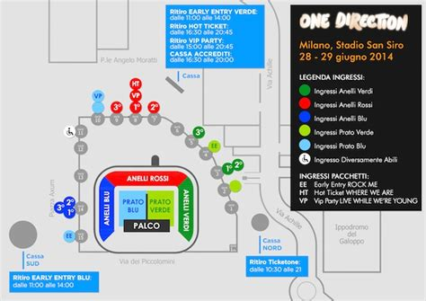 Ingressi Stadio San Siro by Concerto One Direction A San Siro Informazioni Utili