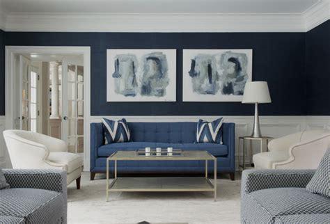 superbes idees deco avec  canape bleu dans le salon