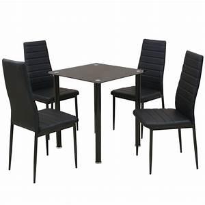 Table Et Chaise De Salle A Manger : acheter vidaxl ensemble table et chaise de salle manger 5 pi ces noir pas cher ~ Teatrodelosmanantiales.com Idées de Décoration