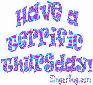Have A Terrific Thursday Purple Glitter Glitter Graphic ...