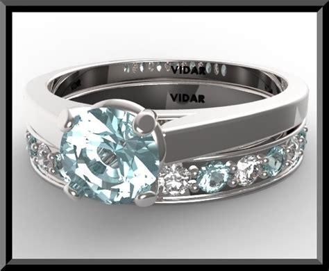 aquamarine wedding ring vidar jewelry unique custom engagement and wedding rings