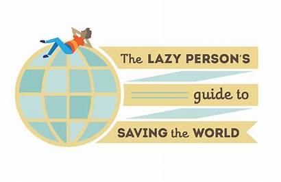 Lazy Guide Sustainable Development Saving Un Person