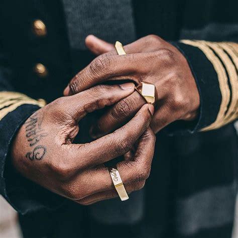 mcllroy design fashion men titanium steel rings bijoux man