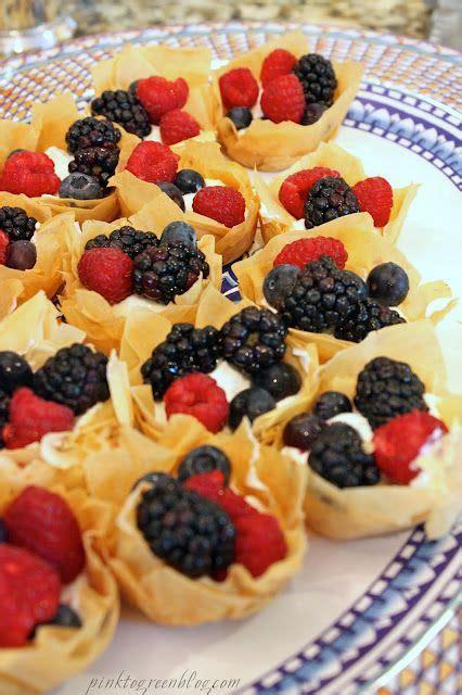 Phyllo dough meat and feta rolls. Skinny Fruit Tart... Yum. | Fruit tart recipe, Fruit tart