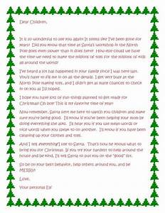 4 creative ways to introduce your elf on the shelf for Generic letter from santa