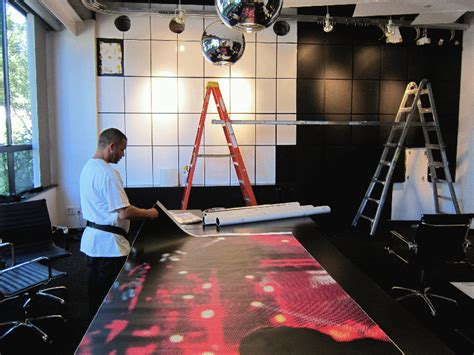 Graphic Wall Wrap For Mtv Conference Room Santa Monica Ca