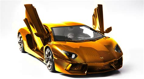 Solid Gold Lamborghini Worth .5m Previewed In Dubai