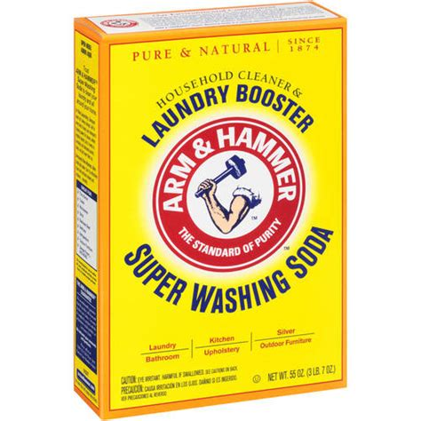 washing soda arm hammer super washing soda detergent booster household cleaner 55 oz walmart com