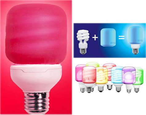 turn a standard cfl or led bulb into a color changing bulb
