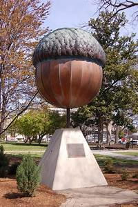 There is a giant acorn statue in Raleigh, North Carolina ...