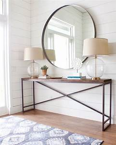 Beautiful, Simple, Foyer, Design, The, Large, Mirror, Catches