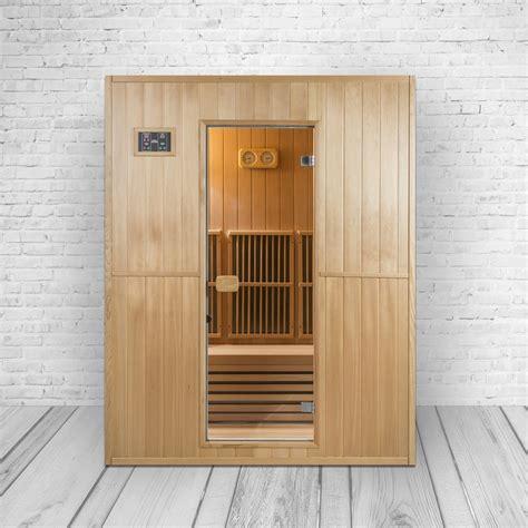 infrarot sauna kreta ii kombination aus infrarotkabine