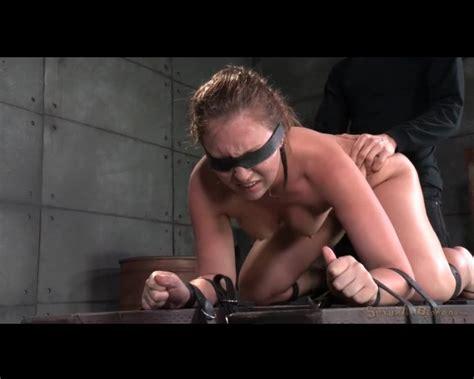 Bound And Blindfolded Girl Spit Roasted Bondage Porn