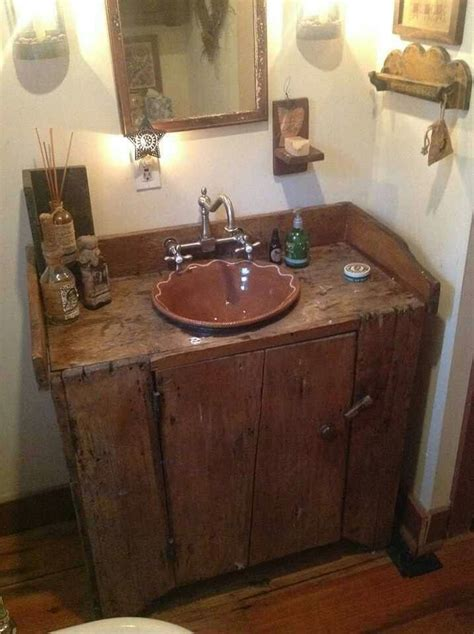 primitive bathroom vanity ideas 1000 images about primitive bathroom ideas on