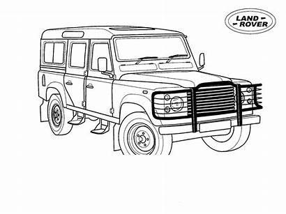 Rover Coloring Colorare Colorear Jeep Disegni Lange