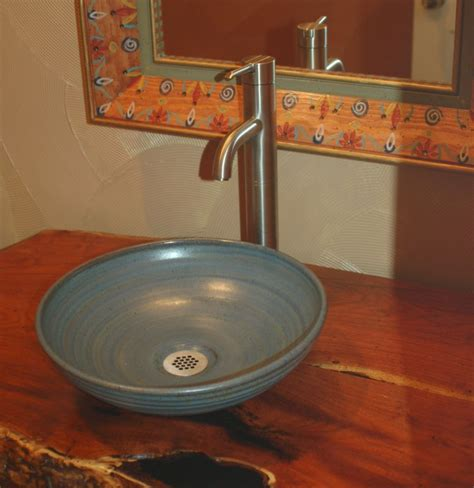 small bathroom vessel sinks pottery sinks hand made sink artist made sink
