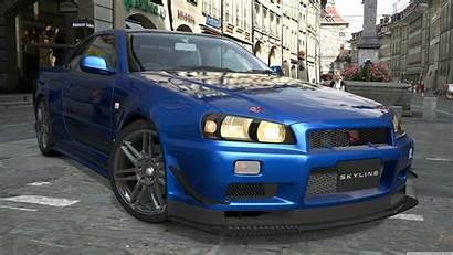 R34 Skyline Nissan Wallpapers Gtr Uhd Wide