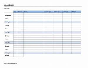 Food diary log open office templates for Open office journal template