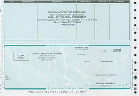payroll check template accounting corporation checks and forms