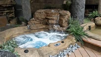 Tub Backyard Rock Natural Spa Patio Pool