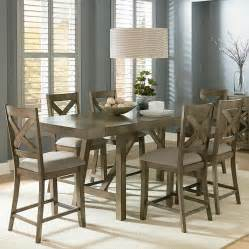 counter height dining room sets standard furniture omaha grey counter height 7 dining room table set wayside furniture