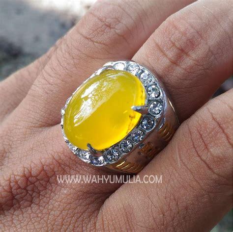 Akik Motif Cempaka batu cincin akik warna kuning cerah kode 402 wahyu mulia