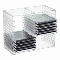 interesting acrylic cd rack 30-CD Acrylic Rack   The Container Store