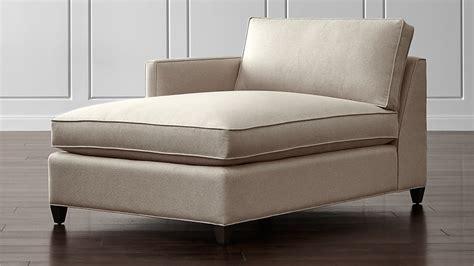 dryden left arm chaise lounge diamond flax crate  barrel