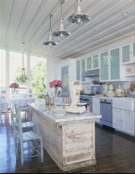 shabby chic kitchen island diy island reclaimed materials in kitchen your own