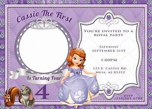 17 best images about sofia the first on pinterest for Sofia the first free invitation templates