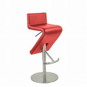 Chaise Bar Reglable : chaise haute de bar design reglable et tournante couleur rouge csy 022 r one mobilier ~ Teatrodelosmanantiales.com Idées de Décoration