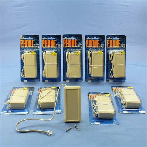 Leviton Ivory Phone Telephone Junction Terminal Boxes