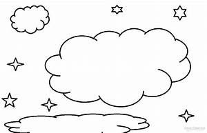 Free coloring pages of rain clouds and sun