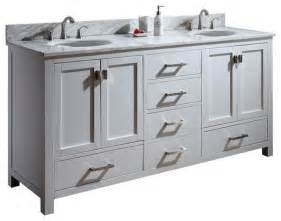 72 quot toscana double sink vanity white traditional