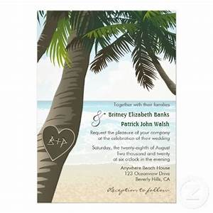17 best images about palm tree wedding invitations on With wedding invitations palm tree theme