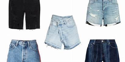 Shorts Denim Crop Waisted Distressed