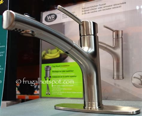 water ridge pull out kitchen faucet costco sale water ridge style pull out kitchen