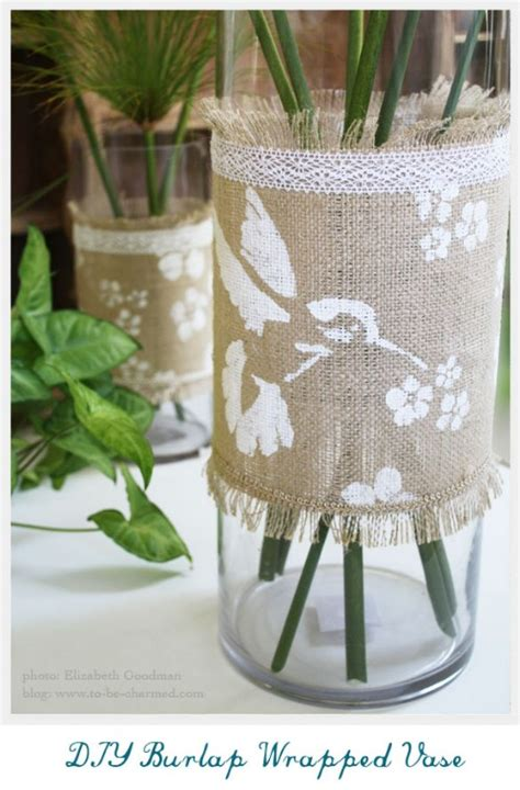 gorgeous burlap projects   beautify  life