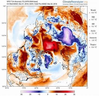 Climate Arctic Pole North Temperatures Reanalyzer Warm