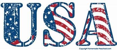 Flag Clipart Usa American Clip Flags America