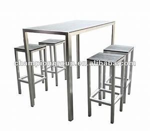 Chaise Pour Table Haute : table de bar exterieur ~ Teatrodelosmanantiales.com Idées de Décoration